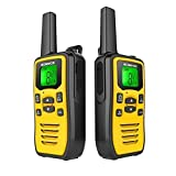 Professional Rechargeable Walkie Talkies Long Range for Adults Two Way Radios 22 Channels VOX Scan LCD Display with LED Flashlight Ideal for Field Survival Biking and Hiking Camping Travel Excursion