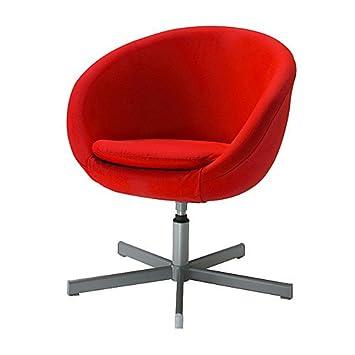 Ikea Skruvsta Fauteuil Pivotant Almas Rouge Amazonfr