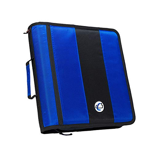 Case-it 2-Inch Ring Zipper Binder, Blue, D-251-BLU
