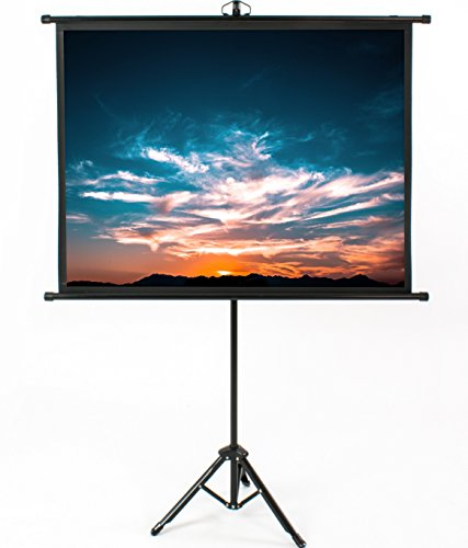 VIVO 50' Mini Portable Indoor Outdoor Projector Screen, 50 Inch Diagonal Projection HD 4:3 Projection Pull Up Foldable Stand Tripod (PS-T-050B)