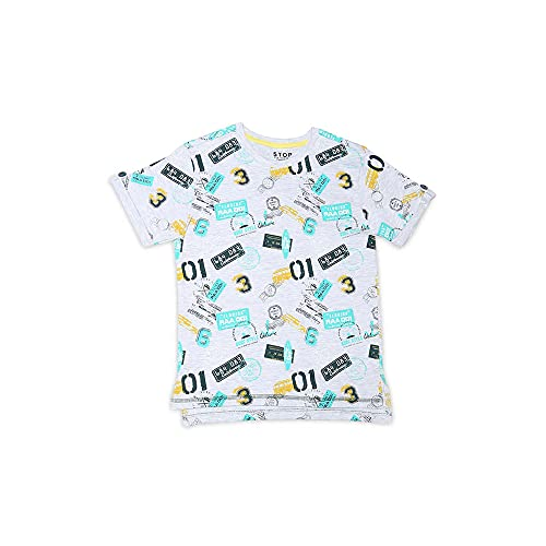 STOP by Shoppers Boys Round Neck Graphic Print Tee TODAY OFFER ON AMAZON