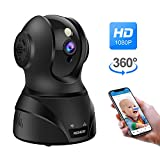 Wireless Security Camera, 1080P WiFi IP Home Surveillance Camera, Pan/Tilt/Zoom Camera for Pet/Elder/Baby Monitor with Motion Detection, Night Vision, 2 Way Audio, Compatible with Alexa