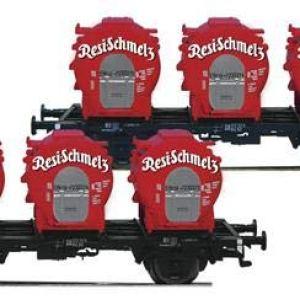 Fleischmann 823302 DB Resi-Schmelz Round Container Wagon Set (2) IV 41XxeJ96JVL