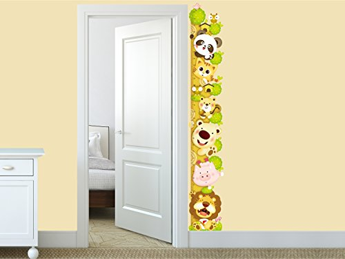 Amazon-Brand-Solimo-Wall-Sticker-for-Kids-Room-Animal-Height-Chart-ideal-size-on-wall-27-cm-X-172-cmMulticolour