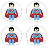 Superman Lego Superhero Inspired Edible Cupcake Toppers Decoration