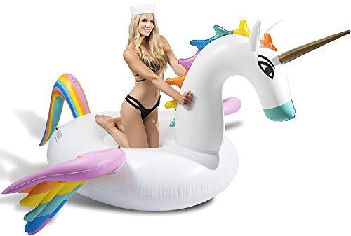 CAPTAIN FLOATY Giant Rainbow Pegasus Unicorn Pool Float