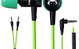 GranVela G10 Hammering Gaming Earphones In-ear Noise-isolating Bass Headphones with Microphones Earbuds, Green