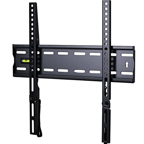 VideoSecu Ultra Slim TV Wall Mount for most 27'-47' LCD LED Plasma TV, Some up to 55' Flat Panel Screen Display with VESA 100x100 200x100 200x200 300x200 400x300 400x400 1' Low Profile TV Bracket 1RX