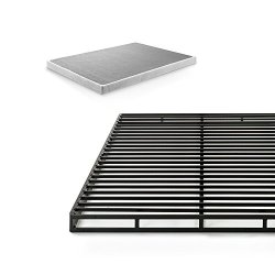 ZINUS Quick Lock Metal Box Spring / 4 Inch Mattress Foundation / Strong Metal Structure / Easy Assembly, Queen