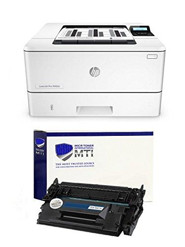 MTI LaserJet Pro M402n MICR Check Printer Bundle with 1 Compatible 26A CF226A MICR Toner Cartridge