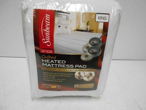 Sunbeam Heated Mattress Pad | Quilted Polyester, 10 Heat Settings, King