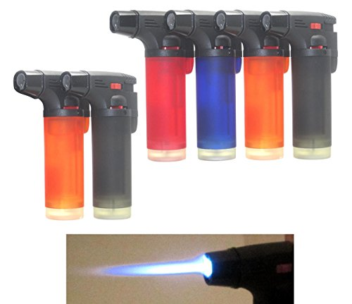 Pack of 4 Single Jet Flame Torch Lighter...
