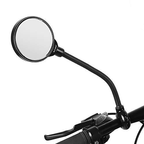 ICOCOPRO Bike Mirror Adjustable Rotatable Cycling Rear Mirror HD Wide Angle Safe Rearview Mirror Shockpoof Convex Mirror Universal for Mountain Road Bike