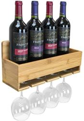 Bamboo Wine Bottle Holder for Wall