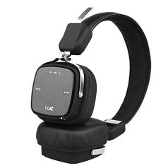boAt Rockerz 600 Bluetooth Headphone with Luxurious Sound, Plush Earcushions, Foldable Ergonomic Design and Up to 8H Playtime (Black)