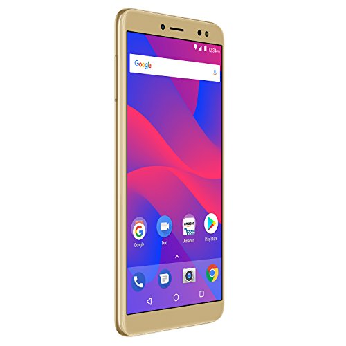 """BLU Vivo XL3 -5.5"""" HD+ 18:9 Display Smartphone with Android 8.0 Oreo –Gold"""