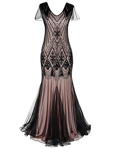 PrettyGuide Women Evening Dress 1920s Flapper Cocktail ...