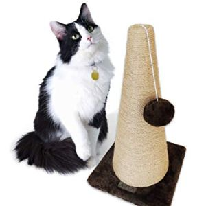 ASPCA Sisal Cat Scratching Cone, Swatting Toy, Carpet Base, 16.25x9x9 6