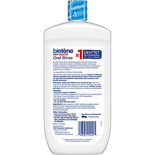 Biotene Fresh Mint Moisturizing Oral Rinse Mouthwash, Alcohol-Free, for Dry Mouth, 33.8 ounce 6