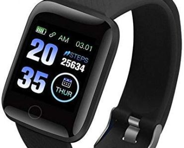 Rambot D116 Touchscreen Smart Watch Bluetooth Smartwatch with Heart Rate Sensor and Basic Functionality for All Boys & Girls with 1 Year Replacement Warranty in All Over India