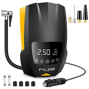 FYLINA Auto Air Compressor Tire Inflator, 12V DC Portable Air Compressor Pump, Auto Shot Off, Digital Air Pump with Led… 41YhnlxyBRL