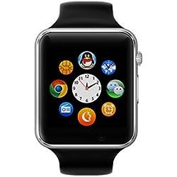 eabbd12999 Smartwatch A1 Relógio Inteligente Bluetooth Gear Chip Android iOS Touch Faz  e atende ligações SMS Pedômetro