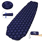 Bessport Sleeping Pad - Ultralight Inflatable Sleeping Mat, Best Self Serving Pad for Camping, Backpacking, Hiking -Carry Bag, Repair Kit - Compact & Lightweight Air Mattress (Blue)