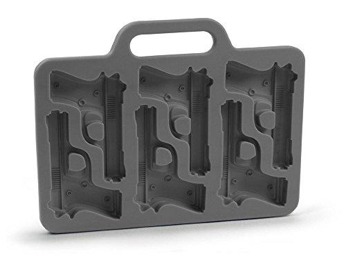 1 X niceeshop(TM) Stylish Gun Shaped Silicone Ice Cube Mould Mold Tray DIY,Black