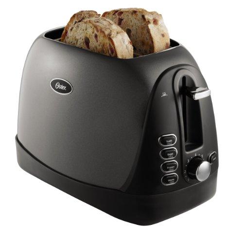 Oster TSSTTRJBG1 Jelly Bean 2-Slice Toaster, Grey