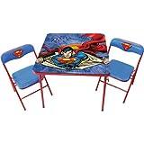 O'Kids Superman Metal Activity Table and Chair Set