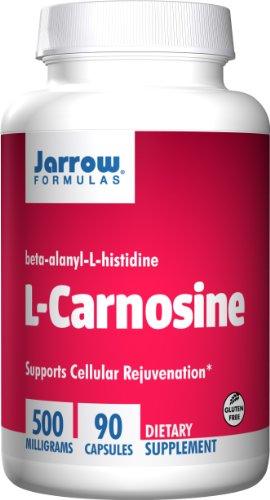 Jarrow Formulas L-Carnosine 500mg, Supports Brain, Memory, Cardiovascular Health, 90 Caps