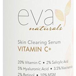 Eva Naturals Vitamin C Serum Plus 2% Retinol, 3.5% Niacinamide, 5% Hyaluronic Acid, 2% Salicylic Acid, 10% MSM, 20…