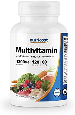 Nutricost Multivitamin 120 Veggie Capsules - with Probiotics, Enzymes, and Antioxidants 1