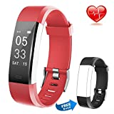 Lintelek Fitness Tracker Heart Rate Monitor Activity Tracker Calorie Step Counter Pedometer Odometer, Waterproof Sleep Monitor, Smart Watch Bracelet with Free Replacement Band Android iOS, Men Women