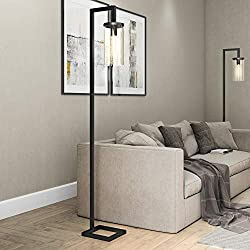 Henn&Hart FL0014 Modern Farmhouse seeded Task Lamp, One Size Black