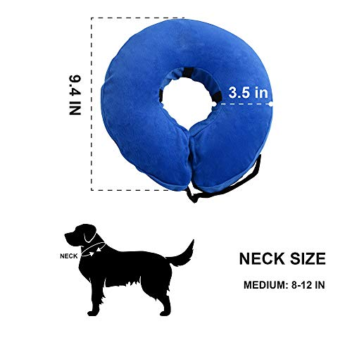 Laboratory 29 Inflatable Dog Collar, Comfy Cone for Dogs, Dog Recovery Collar, Soft Dog Cone, Dog Cone for Dogs and Cats, Washable, Bite and Scratch Resistant (Medium) deal 50% off 41Z 2BvnAYRVL