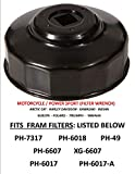 APSG Oil Filter Wrench Motorcycle/Powersports Fit: Filters  .FRAM : PH7317 PH6607 XG6607 PH6617 PH6617A PH49 PH6018 Filters