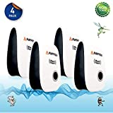 AVARZA Ultrasonic Pest Repellent – Indoor Electronic Repellent – Pack of 4 Pest Repellents – Effective Against Insects, Mice, and Bugs – Non-toxic and Eco-friendly – Plug & Play Installation
