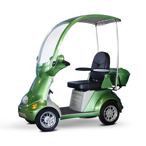 EWheels (EW-54) 4-Wheel Full Covered Scooter with Electromagnetic Brakes, Green - BMC-EWH EW-54G