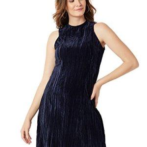 f46a19de79 Miss Chase Women s Navy Blue Velvet Shift Dress