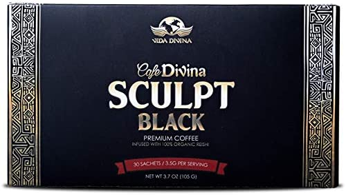 Lose Weight with Cafe Divina Sculpt Premium Coffee,Sculpt Pairs Ganoderma lucidium and Garcinia Cambogia to Help You Speed up Your Body's Fat-Burning processes,Control Appetite, 30 Individual Sachets 1