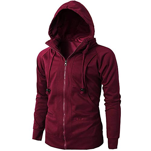 Fashion Mens' Autumn Winter Long Sleeve Sport Zipper Hoodie Pullover Blouse Tops