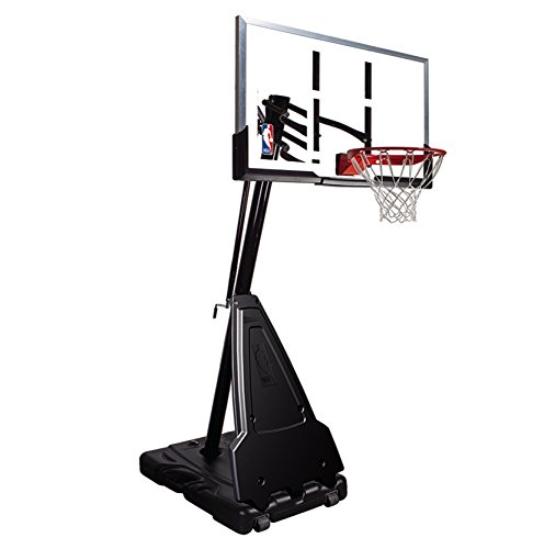 Spalding Portable Basketball System 54 Inch Aluminum Trim Acrylic...