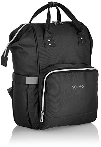 41Z9UvIALmL - Amazon Brand - Solimo Baby Diaper Bag, Black