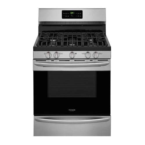 Frigidaire FGGF3047TF Gallery Series 30 Inch Freestanding Gas Range with 5 Sealed Burner Cooktop, 5 cu. ft. Primary Oven Capacity, in Stainless Steel