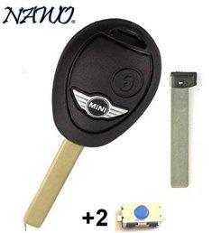 Coque-de-cl-plip-2-boutons-pour-tlcommande-Mini-Cooper-S-D-One-Clubman-sans-LOGO-2-boutons-switch