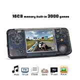 Handheld Game Console, Retro Game Console 3 Inch HD Screen 3000 Classic Game Console ,Portable Video Game Great Gift for Kids (Black)