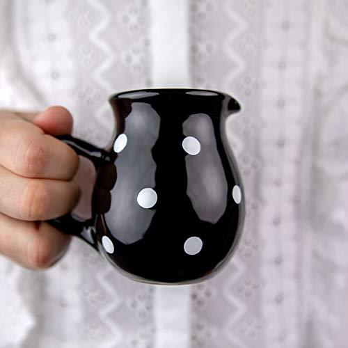 Black Polka Dot Small Milk Creamer Jug