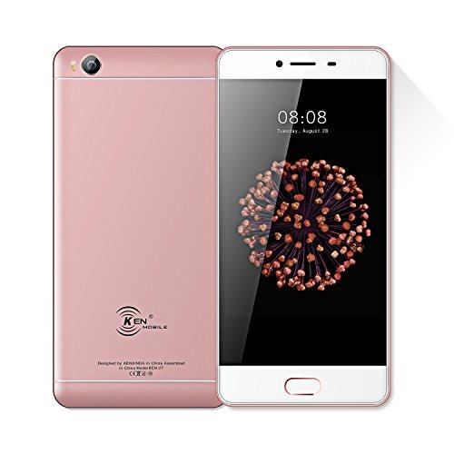 Kenxinda S8 Uncloked Dual-Sim Smartphone 5.0 inch Display, 5Mp+8MP Camera, Andoid 7.0 SC9832 Platform Chinese Rugged Smartphone (ROSE GOLD)