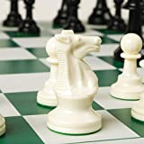 Best Chess Set Ever - Chess Board Game with Triple Weight Pieces, Green Silicone Board